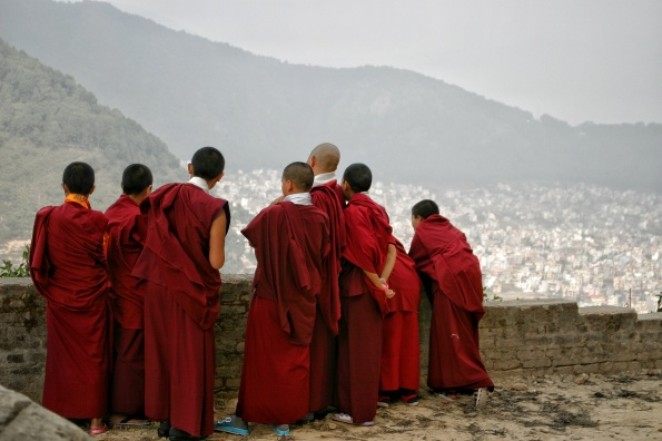 Monks Monastery Kathmandu Nepal