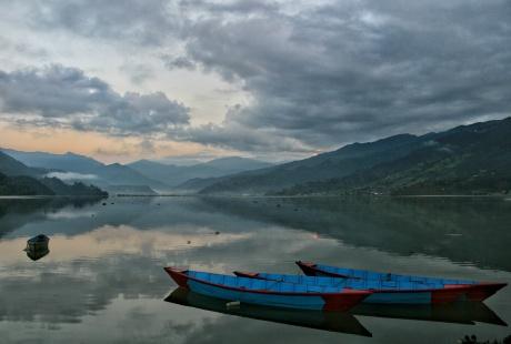 Pokhara Sunrise Boats Phewa Lake 2