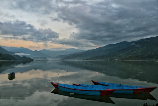 Pokhara Sunrise Boats Phewa Lake 2