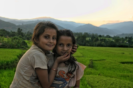 Jogatar Sunset Children Nepal
