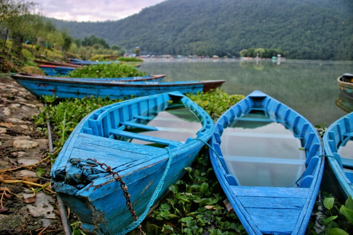 Pokhara Sunrise Boats Phewa Lake