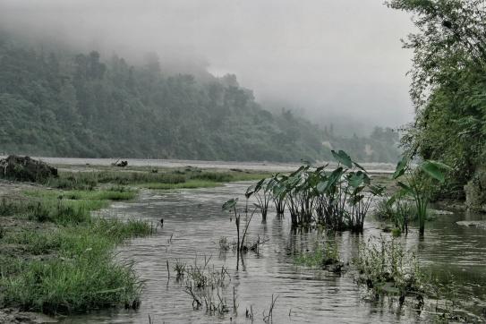 Indrawati River Sunrise Fog Nepal
